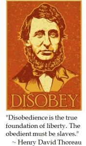 Henry David Thoreau Disobey