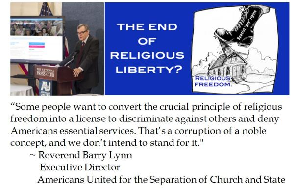 Barry Lynn on Religious Liberty