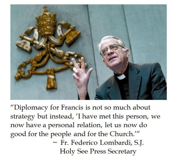 Vatican Spokesman on Pope Francis' Diplomacy