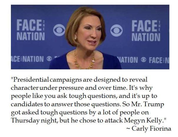 Carly Fiorina on Donald Trump