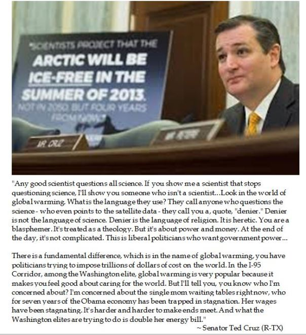 Ted Cruz Impeaches Global Warming
