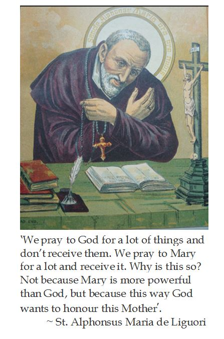 St. Alphonsus Maria de Liguori on Mary