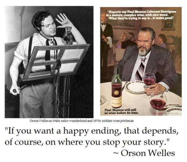 Orson Welles on Happy Endings