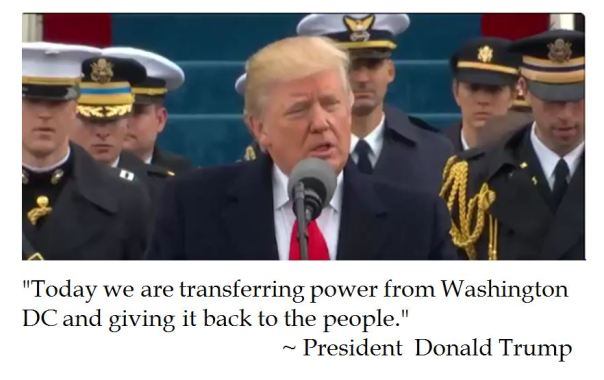 Donald Trump's Inauguration speech to give power back to the people