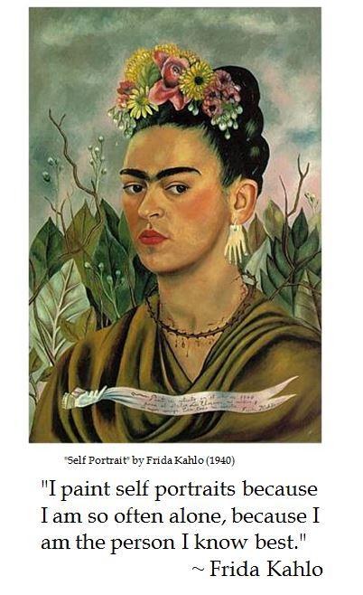Frida Kahlo on Self Portraits