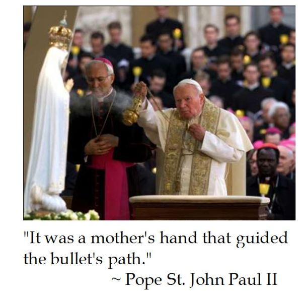 Pope St. John Paul II on How Our Lady of Fatima Saved His Life