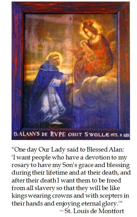Dominican Friar Blessed Alan de la Roche on the Rosary