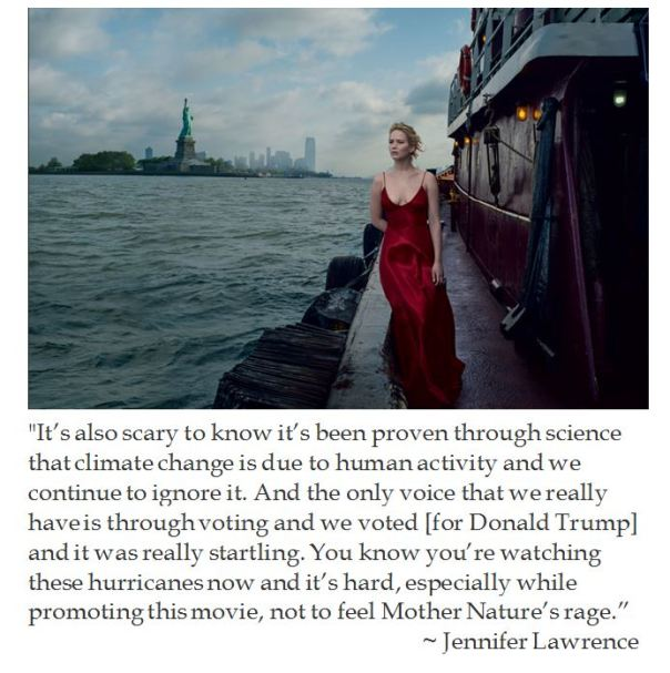 Jennifer Lawrence on Trump and Mother Nature's Wrath