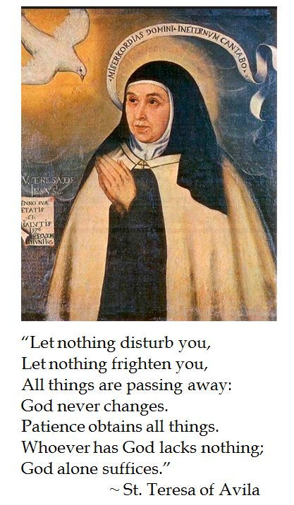 St. Teresa of Avila on Patience