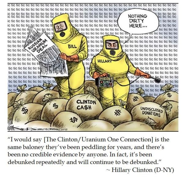 A Bit of Baloney from Hillary Clinton Debunking Uranium One Scandal