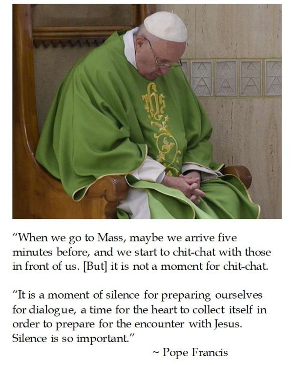 Pope Francis on Pre Mass Silence