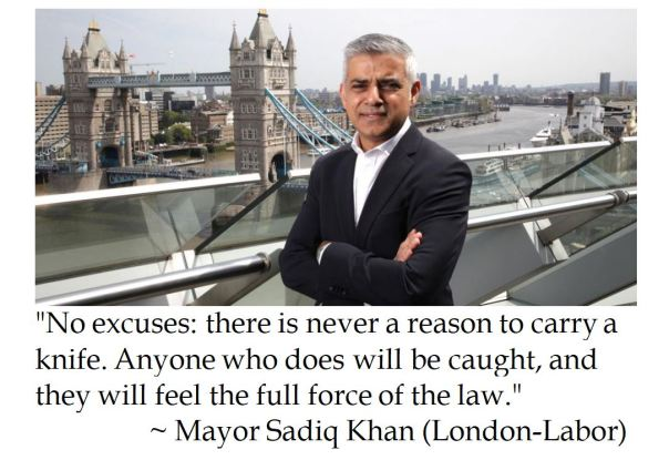 London Mayor Sadiq Khan on banning knives to combat violent crime