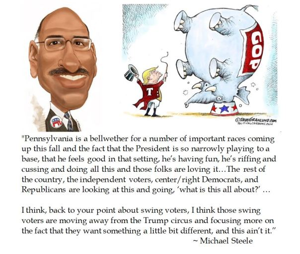 Ex RNC Chair Michael Steele on the Trump Circus