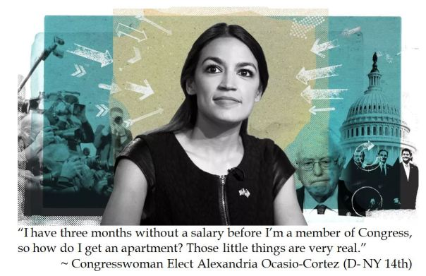 Democrat Socialist Alexandria Ocasio Cortez complains that she doesn't have initial income to move to Washington DC after winning Congressional race.